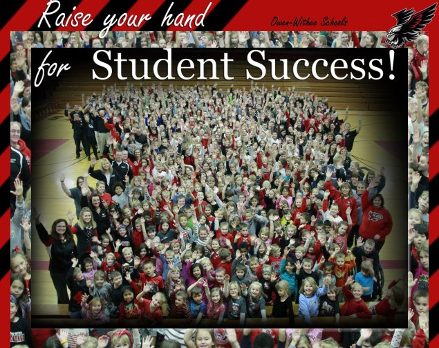 Stand up for students success poster